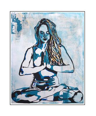 'Zen with me #12' Formaat (bxhxd): 80x100x2