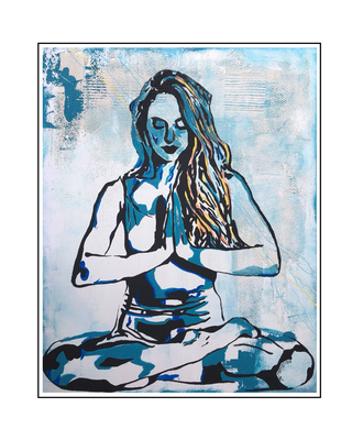 'Zen with me #12' Size: 80x100x2