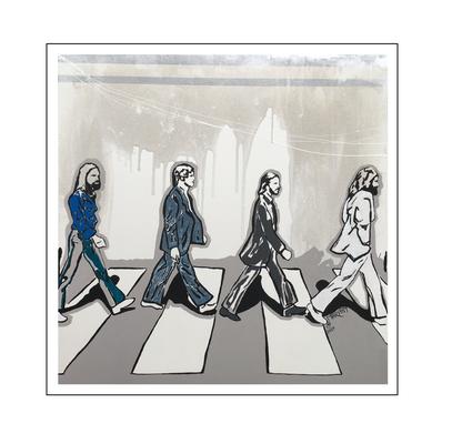 'The beatles, Abbey road album cover' Size: 100x100x2
