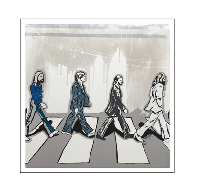 'The beatles, Abbey road album cover' Size: 100x100x2