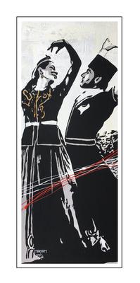 'Dance passion traditional Azerbaijani dance' Size: 50x120x2
