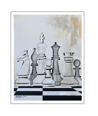 'Life is like a game of chess #1' Size: 80x100x2