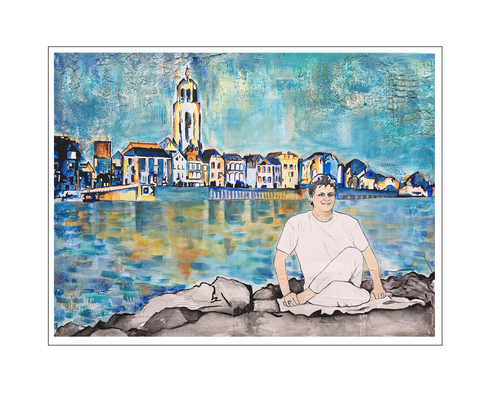'Yoga with Berry' Size: 80x60x4