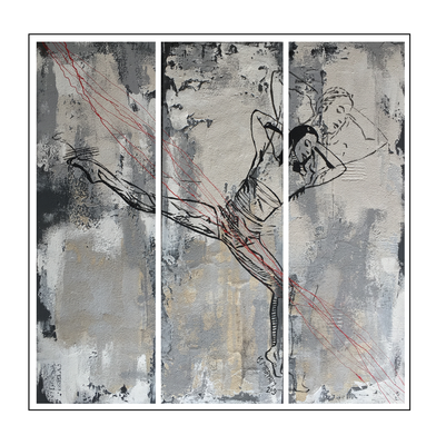 'Dance with me #10' Size: 120x120x2