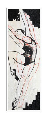 'Dance with me #4' Size: 40x120x2