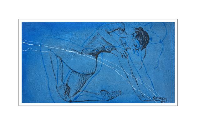 'My blue calmness #1' Size: 150x80x2