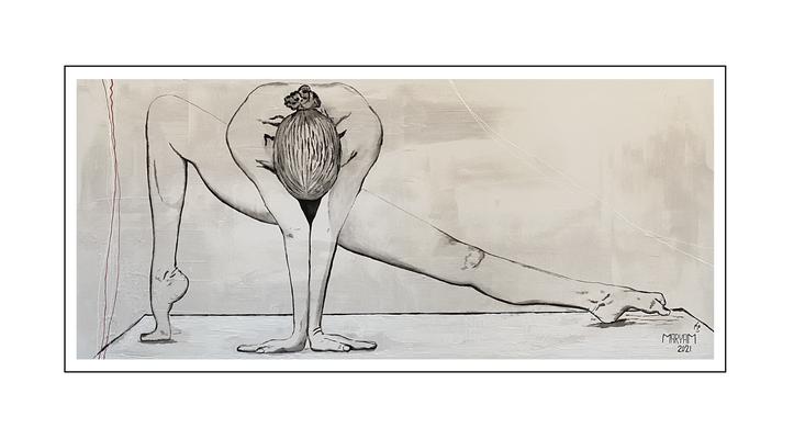 'Zen with me #18' Size: 180x80x2