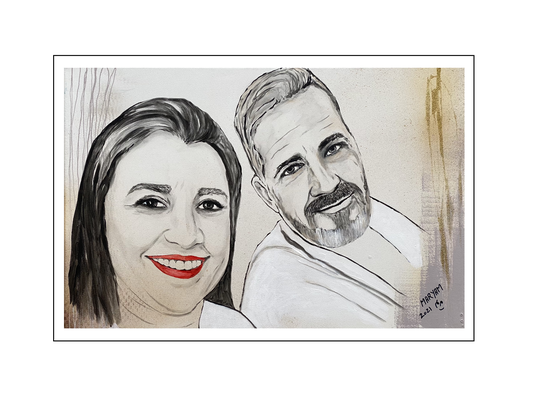 'Once more with Barbara and René' Size: 60x40x2