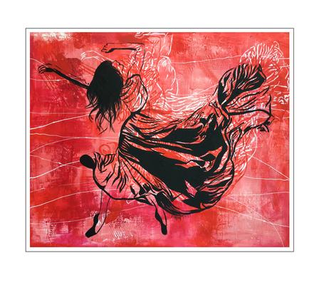 'Dance passion #2' Formaat (bxhxd): 120x100x4