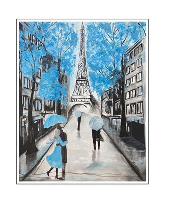 'Love in blue' Size: 80x100x2