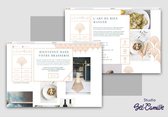 Design du site web pour la brasserie léopold réalisée par studio bel-camille