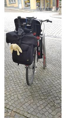 Wickelrucksack für Fahrrad