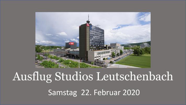 Sängerausflug mit Partner ins TV Studio SRF Zürich