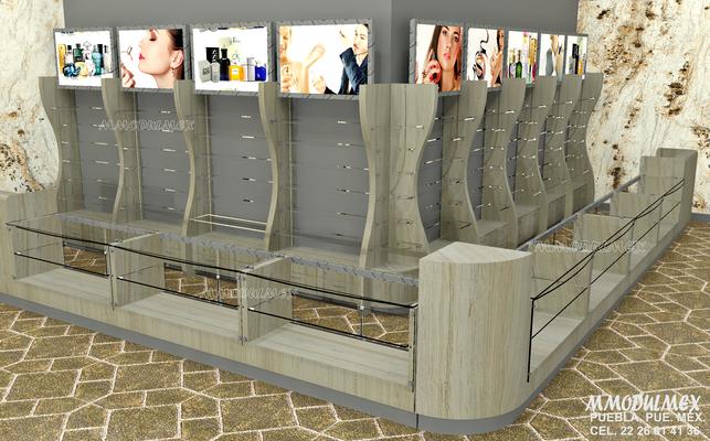 Muebles para boutiques, muebles para perfumes, muebles para cosméticos