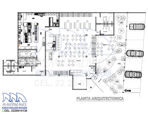 Layout de restaurante
