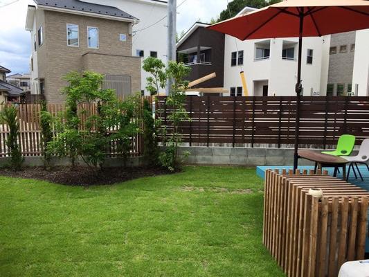 芝生の楽しいガーデン 外構 デザイン 広島 お庭 リフォーム