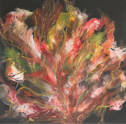 fertig gestellt 2016 - Titel: Bunte Koralle - Format 50 x 50 cm - verkauft