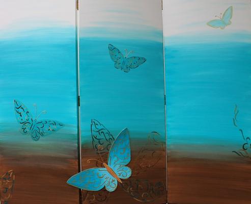 fertig gestellt 2012 - Titel: Schmetterlinge - 3 x 120 x 60 - Preis 600,00 €