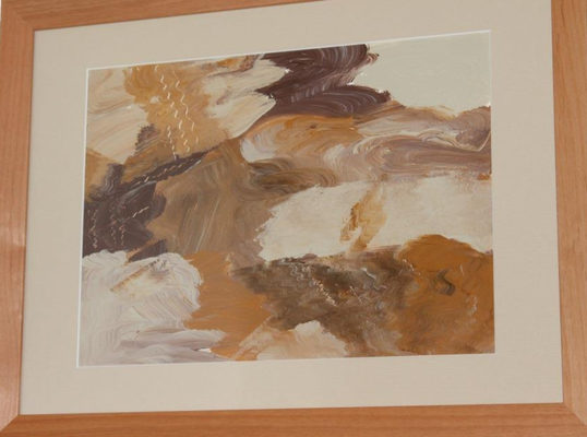 fertig gestellt 2015 - Titel: Erde - Format mit Rahmen 43 x 34 cm - Preis 110,00 €