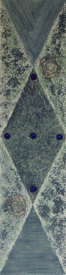 fertig gestellt 2010 - Titel: Trilogie in blaub - Format 20 x 80 cm - 1 Bild 90,00 € 3 Bilder 240,00 €