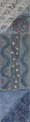 fertig gestellt 2010 - Titel: Trilogie in blau - Format 20 x 80 cm - 1 Bild 90,00 € 3 Bilder 240,00 €