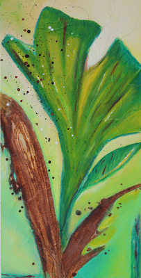 fertig gestellt 2017 - Titel: Fremde Pflanze - Format 20 x 40 cm - Preis 120,00 €