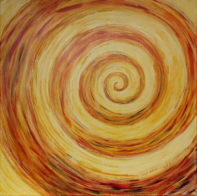 fertig gestellt 2013 - Titel: Spirale - Format 80 x 80 cm - Preis 230,00 €