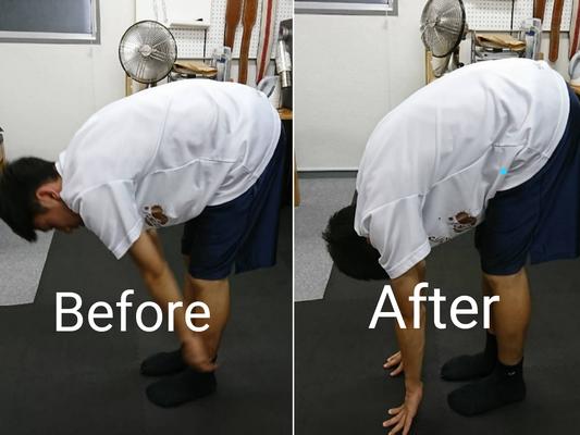 JNストレッチ後の柔軟性変化