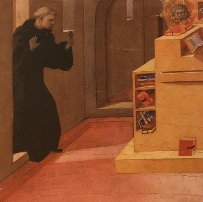 フィリッポリッピ Visione di Sant'Agostino 展覧会ハガキより一部抜粋