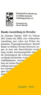 Bericht von A. Dietrich in GBSL-Information 66/2021