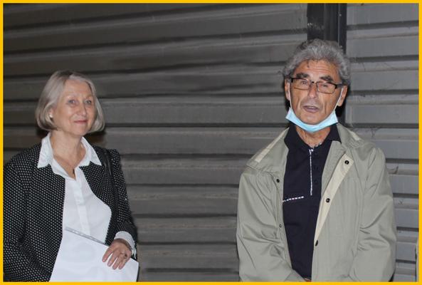 Nach dem Vortrag von Manfred Peetz lädt Brigitte Otto ein in die Baade-Ausstellung im Klotzscher Rathaus