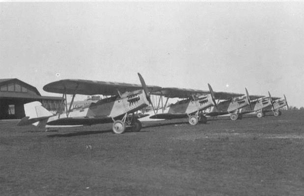 Heinkel HD 17 auf dem Flugplatz in Lipezk