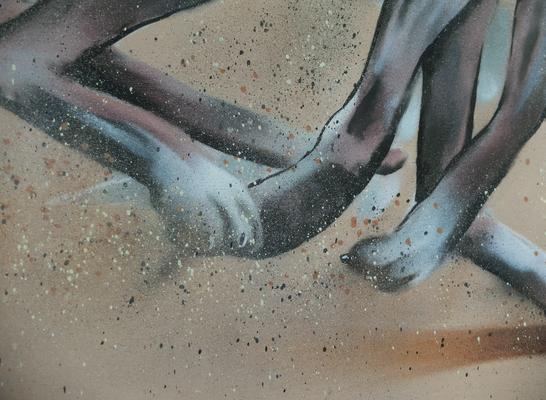 """Fresque """"Lévrier""""_ détail_Privé_2017"""