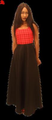 Maxi Dress with 'Maasai' Print Bodice