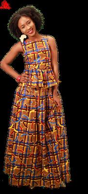 peplum top and maxi skirt