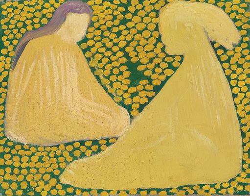 Studie zu «Die gelben Mädchen», 1905, Öl auf Eternit, Privatbesitz