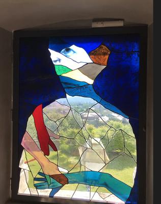 Sans titre - vitrail, réalisation Vitraux Berthier-Bessac, Grenoble - collection particulière, Grenoble - 2018