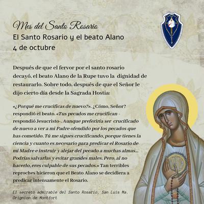 4 octubre: El Santo Rosario y el Beato Alano