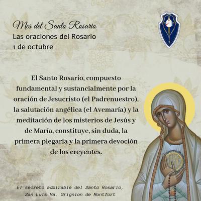 1 octubre: Oraciones del Santo Rosario