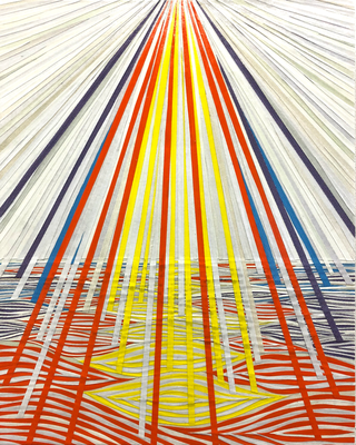 Die Erschaffung des Himmels, 51 x 41 cm, 2018