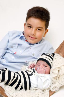 Babyfotografie, 2 Brüder, Menziken