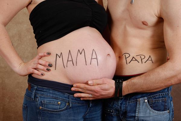 Schwangerschaftsfotografie, Elternfoto - Mama vs Papa ♥ Stein AG