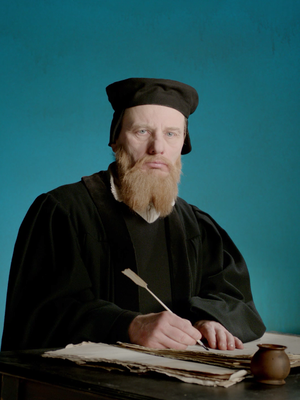 'living portraits' - 7 historical personalities - 7 unique stories 500th anniversary of the reformation 4th: The anti-progressive theology professor Andreas Musculus Fake beard & makeup: Dab&Stroke