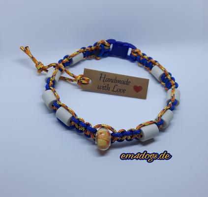 em4dogs.de EM-Keramik Hundehalsband blau orange gemischt
