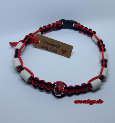 em4dogs.de EM-Keramik Hundehalsband schwarz rot