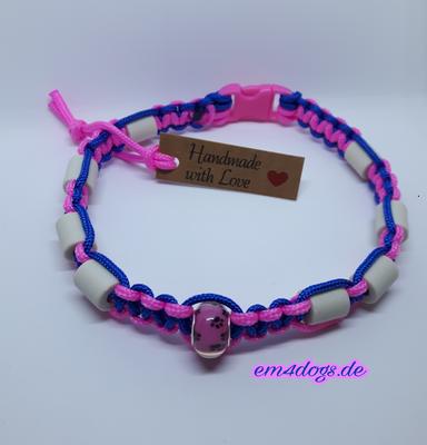 em4dogs.de EM-Keramik Hundehalsband blau pink