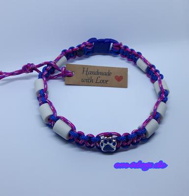 em4dogs.de EM-Keramik Hundehalsband fuchsia blau