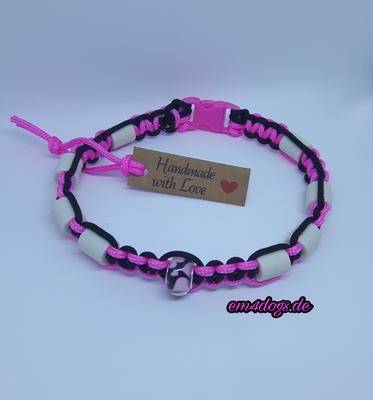 em4dogs.de EM-Keramik Hundehalsband  pink schwarz