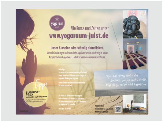 Poster Yogaraum juist