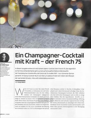 BARNEWS 2020 Ein Champagner- Cocktail mit Kraft- der French 75